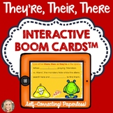 They're, Their, There, Boom Cards™, Homophones, Spelling, Grammar in Context