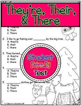 They're Their & There Test