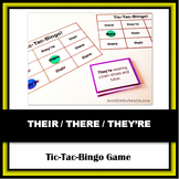 They're / Their / There Tic-Tac-Bingo Language Arts Game