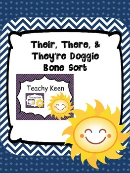They're, Their, and There Doggie Bone Sort