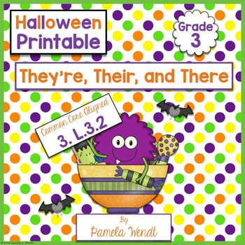 They're, Their, and There - Halloween Language Printable