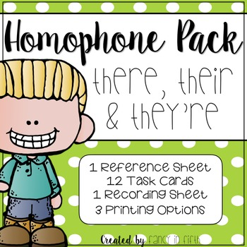 They're, There and Their: A Homophone Pack