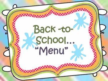 Back to School Menu {They're Baaaaack}