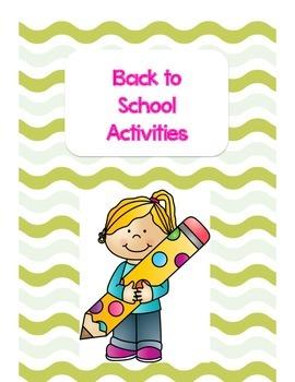 They're going backkkkk....back to school activities!