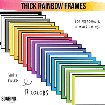 Thick Rainbow Frames and Borders