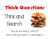 Thick and Thin Questions Posters