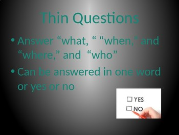 Thick and Thin Questions Review