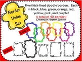 Thick-lined, Doodle Border Value Set - 40 borders (persona