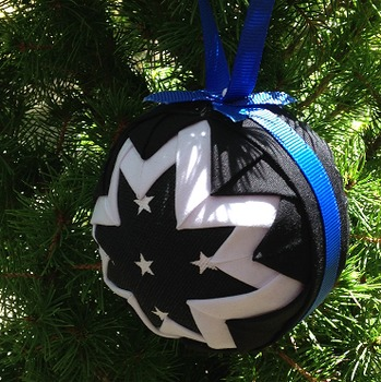 Thin Blue Line Police Ornament Ball PATTERN