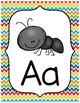 Thin Chevron Rainbow Alphabet Posters