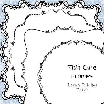 Thin Cute Frames Freebie Friday 5