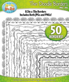 Thin Doodle Frame Borders Set 1 {Zip-A-Dee-Doo-Dah Designs}