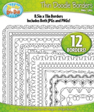 Thin Doodle Frame Borders Set 11  — Includes 12 Graphics!