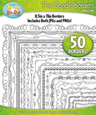 Thin Doodle Frame Borders Set 2 {Zip-A-Dee-Doo-Dah Designs}