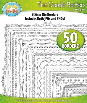 Thin Doodle Frame Borders Set 3 {Zip-A-Dee-Doo-Dah Designs}