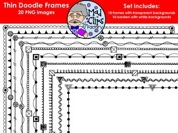 Thin Doodle Frames