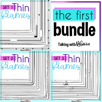 Thin Doodle Frames Bundle