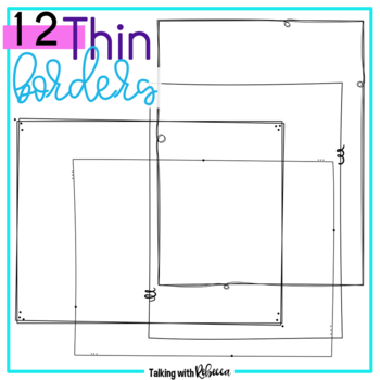 Thin Frame Doodle Borders 3