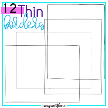 Thin Frame Doodle Borders