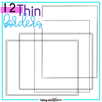 Thin Frame Doodle Borders 2