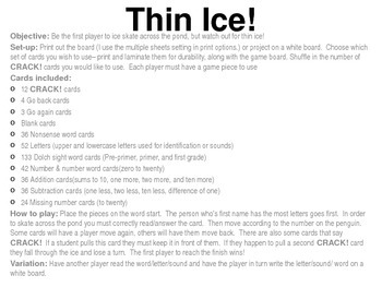 Thin Ice Game