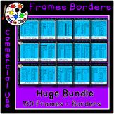 Thin Line Borders & Frames Huge Bundle 150 pieces  Commerc