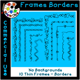 Thin Line Borders & Frames - Volume 1 - Commercial Use {Si