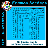 Thin Line Borders & Frames - Volume 3 - Commercial Use {Si