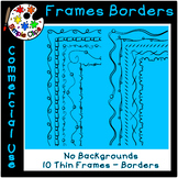 Thin Line Borders & Frames - Volume 4 - Commercial Use {Si