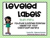 Thin Mint Classroom Library Leveled Labels (Fountas & Pinn