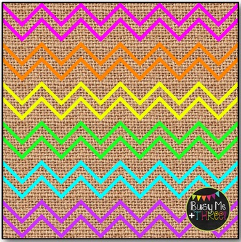 Thin Neon Chevron BURLAP Digital Papers {Commercial Use Digital Graphics}