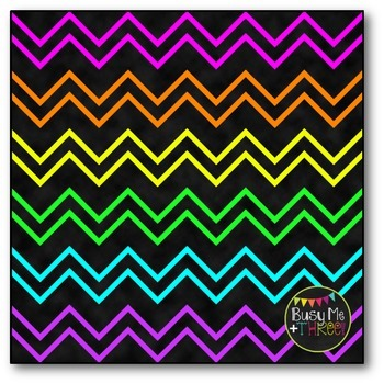 Thin Neon Chevron Digital Papers {Commercial Use Digital Graphics}