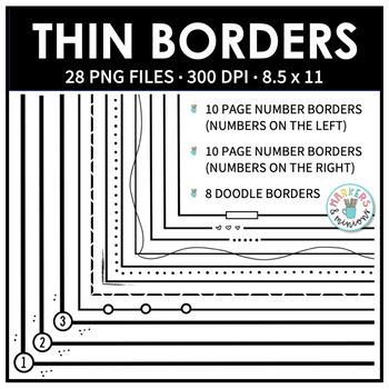 Thin Page Borders