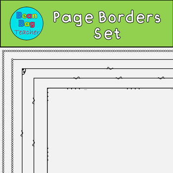 Thin Page Borders - Set #5 - Perfect for Worksheets - Commercial Use