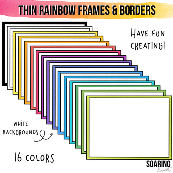 Thin Rainbow Frames and Borders