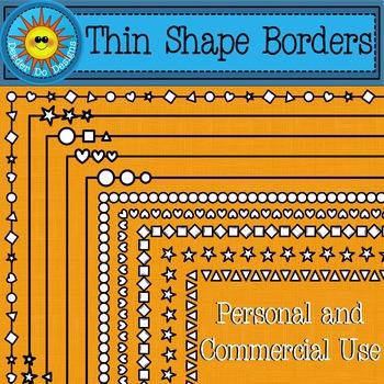 Thin Shapes Borders