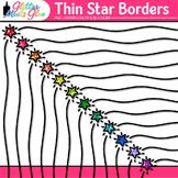Thin Star Border Clip Art {Rainbow Glitter Frames for Work