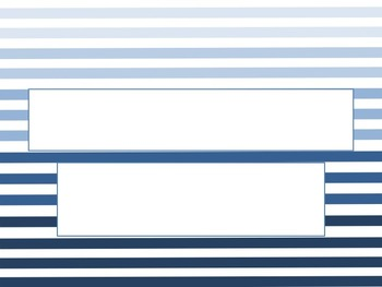 Thin Striped Blue Ombre PowerPoint Template