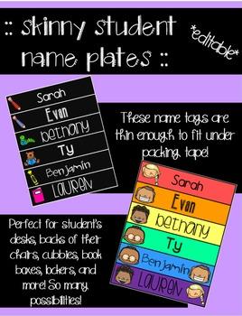 Thin Student Name Plates *EDITABLE*