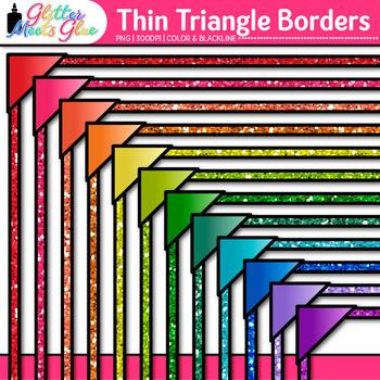 Thin Triangle Border Clip Art: Glitter Frame Graphics {Glitter Meets Glue}