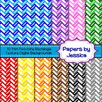 Digital Papers - Thin Two-Tone Rectangular Texture