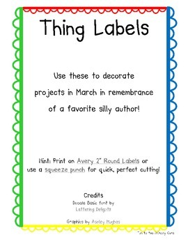 Thing 1-30 Labels