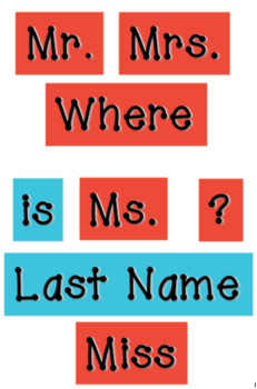 Thing 1 Thing 2 Red and Teal - WORDS for your Where is the Counselor? sign