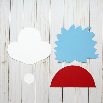 Thing 1 and Thing 2 Craft - Dr Seuss Craft