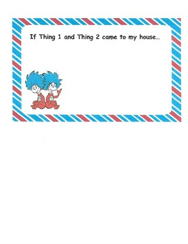 Thing 1 and Thing 2 Fun Sheet