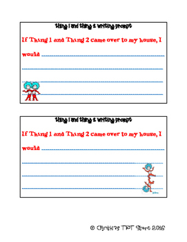 Thing 1 and Thing 2 Writing Activity