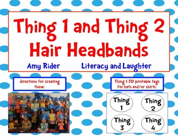 Thing One and Thing Two Hair Hats / Headbands