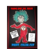 Thing one and Two Dr Seuss Read across America Craft art c