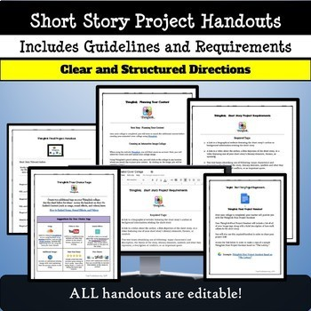 Short Stories: Activity and Technology Project:  Use with ANY Short Story!