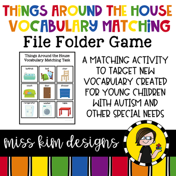 Things Around the House Vocabulary Folder Game for student